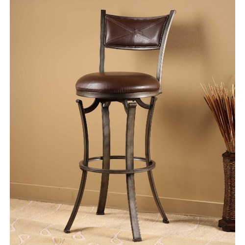 Hillsdale Metal Stools Drummond Swivel Bar Stool