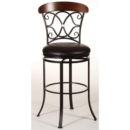 Hillsdale Metal Stools Dundee Swivel Bar Stool