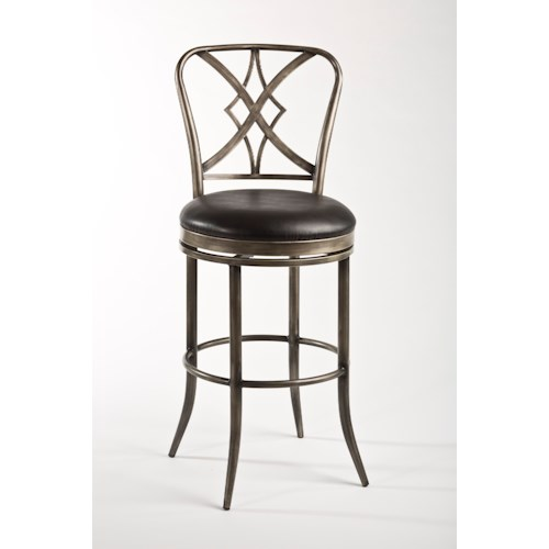 Morris Home Furnishings Metal Stools Jacqueline Commercial Counter Stool