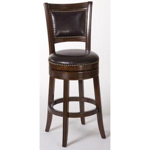 Hillsdale Metal Stools Lockfield Swivel Counter Bar Stool