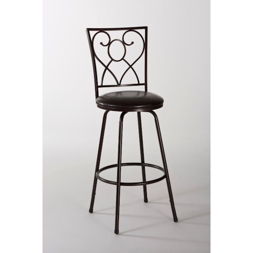 Morris Home Furnishings Metal Stools Bellesol Swivel Counter/ Bar Stool with Scroll Work