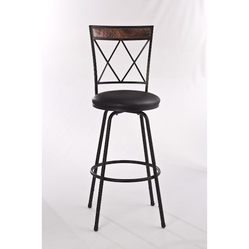 Hillsdale Metal Stools Metal Bar Stool with Adjustable Legs