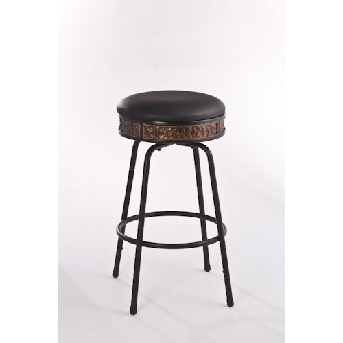 Morris Home Furnishings Metal Stools Backless Metal Adjustable Stool