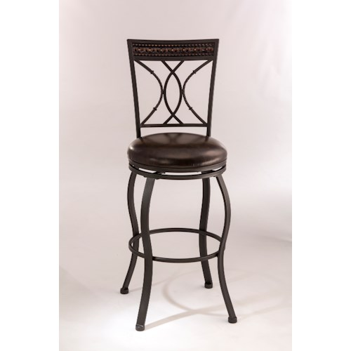 Hillsdale Metal Stools Metal Swivel Bar Height Stool