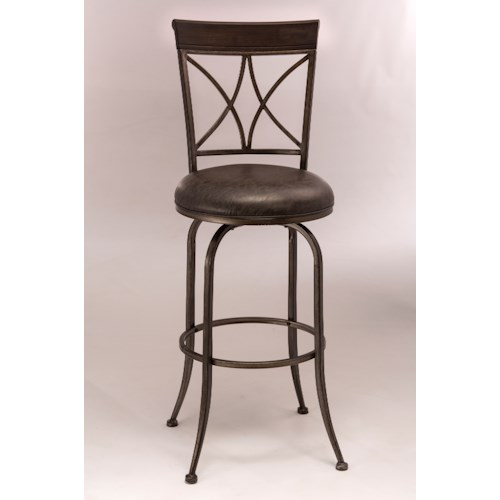 Morris Home Furnishings Metal Stools Metal Swivel Counter Height Stool