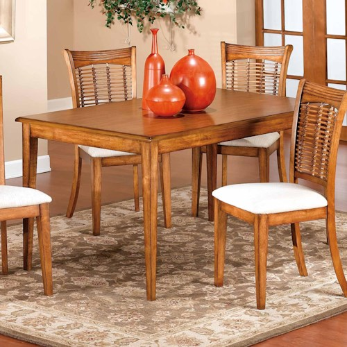 Morris Home Furnishings Bayberry and Glenmary Rectangle Dining Table