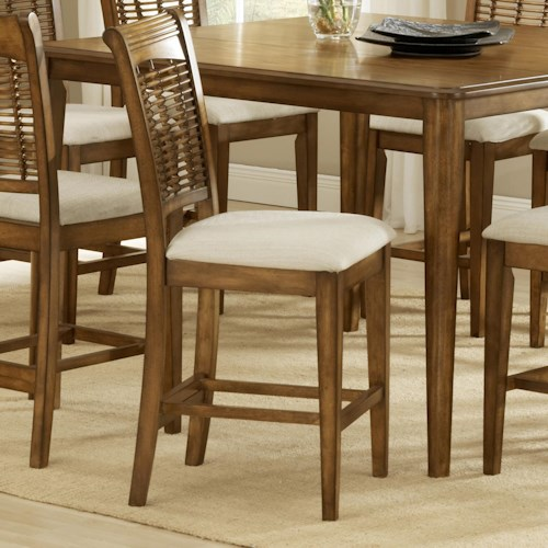 Morris Home Furnishings Bayberry and Glenmary Non-Swivel Counter Stool