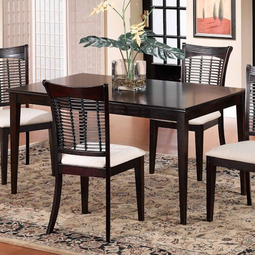 Hillsdale Bayberry and Glenmary Rectangle Dining Table