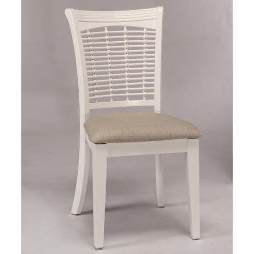 Hillsdale Bayberry White Wicker Dining Side Chair