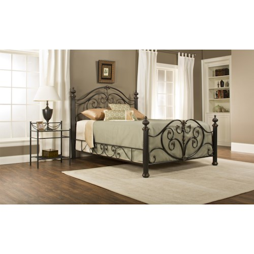 Morris Home Furnishings Metal Beds Grand Isle Queen Bed Set with Posts