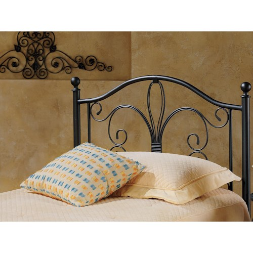 Hillsdale Metal Beds Twin Milwaukee Headboard with Rails
