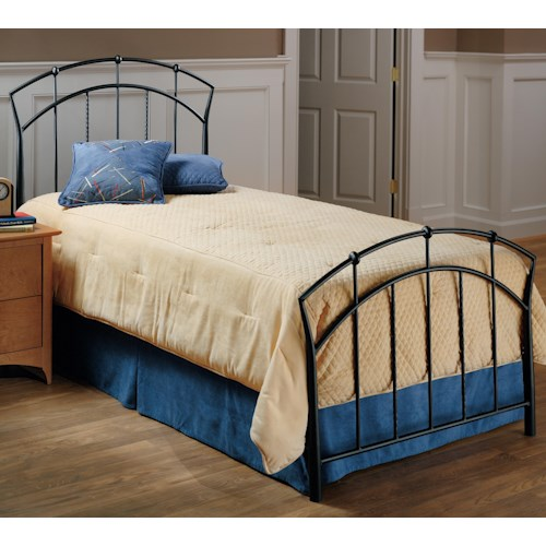 Morris Home Furnishings Metal Beds Twin Vancouver Bed