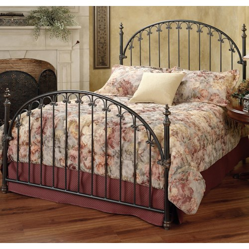 Morris Home Furnishings Metal Beds Queen Kirkwell Bed