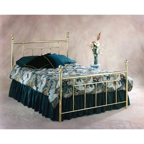 Morris Home Furnishings Metal Beds Brass Queen Headboard and Footboard Bed