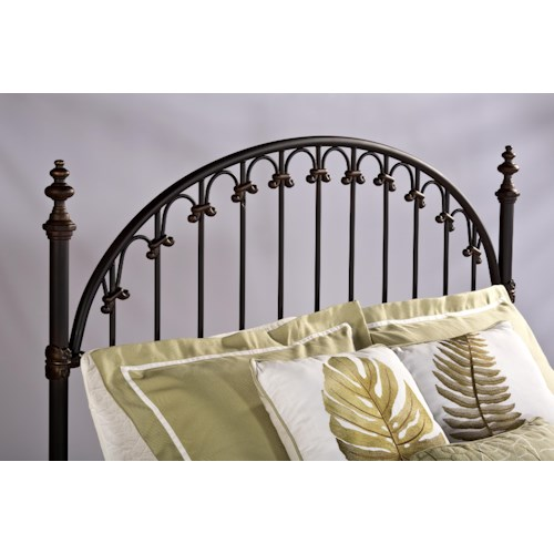 Morris Home Furnishings Metal Beds Brushed Bronze King Headboard with Rails