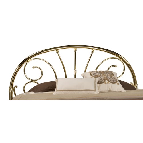 Hillsdale Metal Beds Brass Full Headboard with Rails
