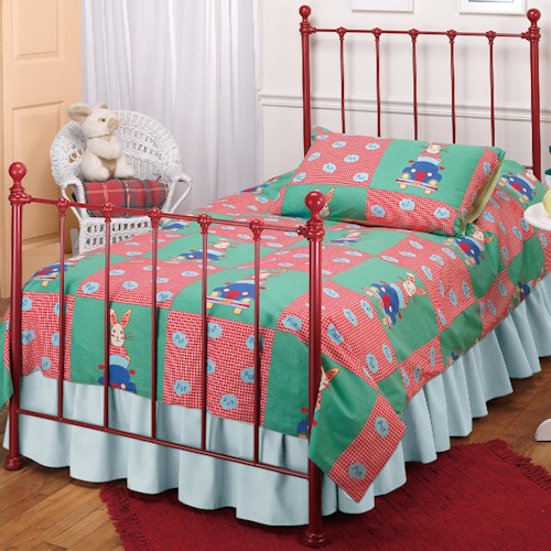 Hillsdale Metal Beds Twin Red Molly Bed