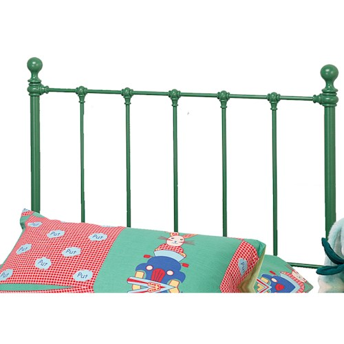 Morris Home Furnishings Metal Beds Twin Molly Headboard with Rails