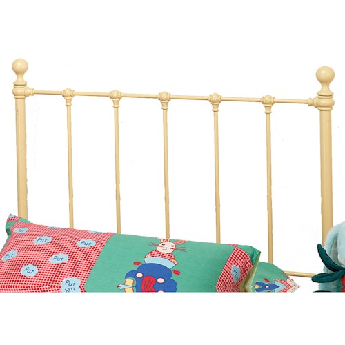 Hillsdale Metal Beds Twin Molly Headboard with Rails