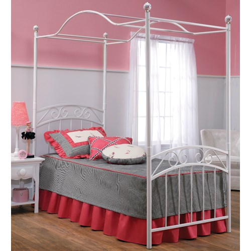 Hillsdale Metal Beds Emma Full Canopy Bed