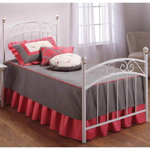 Morris Home Furnishings Metal Beds Twin Emily Bed