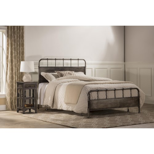 Morris Home Furnishings Metal Beds Utilitarian Metal Queen Bed Set