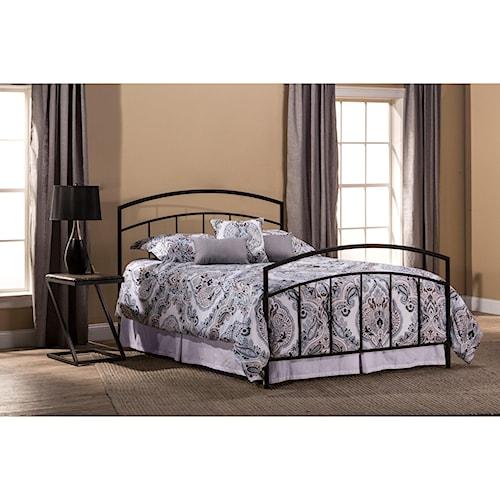 Morris Home Furnishings Metal Beds Metal King Bed Set with Rails