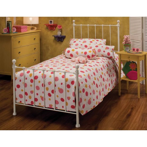 Hillsdale Metal Beds Queen Molly Bed Set with Rails