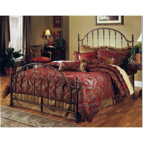 Hillsdale Metal Beds King Tyler Bed Set - Rails not included