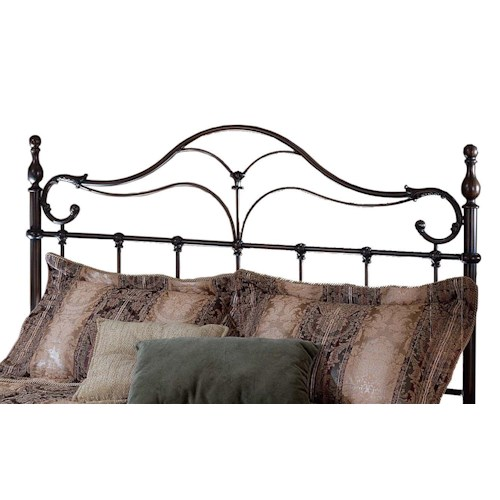 Morris Home Furnishings Metal Beds Bennett Metal King Size Headboard