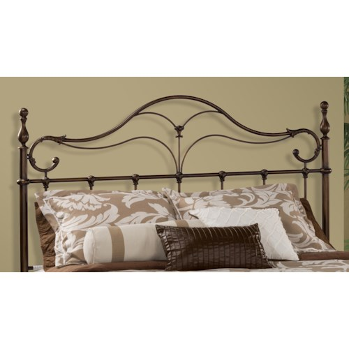 Morris Home Furnishings Metal Beds Bennett Full/Queen Metal Headboard with Rails
