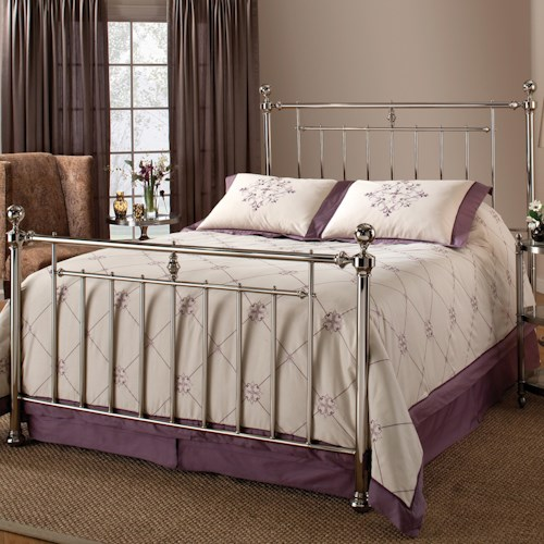 Hillsdale Metal Beds Holland Full/ Queen Headboard with Rails and Slat Design