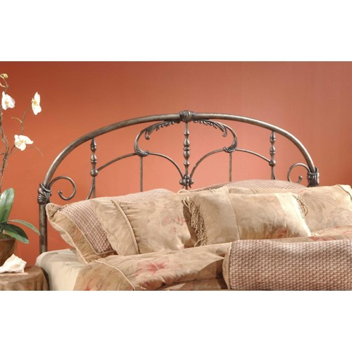 Hillsdale Metal Beds Pewter King Headboard with Rails