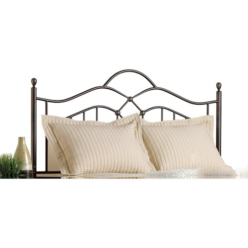 Morris Home Furnishings Metal Beds King Oklahoma Headboard with Rails