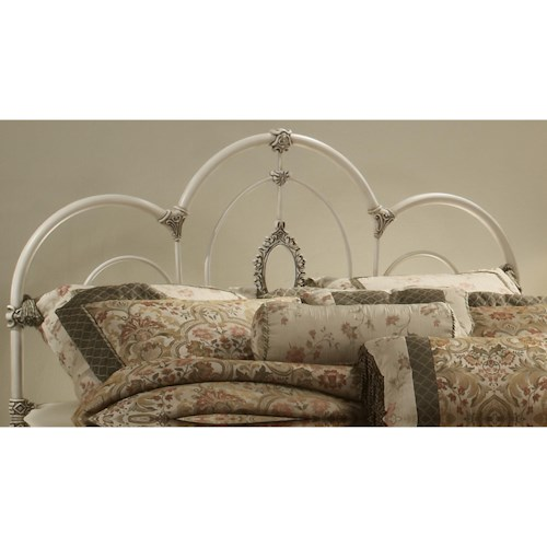 Morris Home Furnishings Metal Beds Twin Victoria Headboard with Rails