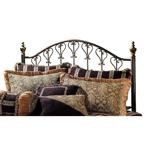 Hillsdale Metal Beds Huntley Metal King Headboard with Rails