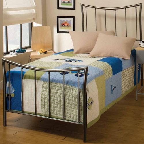 Morris Home Furnishings Metal Beds Twin Edgewood Bed