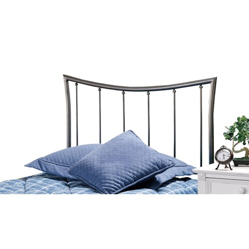 Morris Home Furnishings Metal Beds Edgewood Metal Twin Headboard with Rails