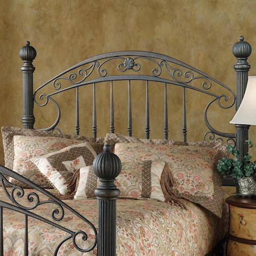 Morris Home Furnishings Metal Beds Queen Chesapeake Headboard Grill