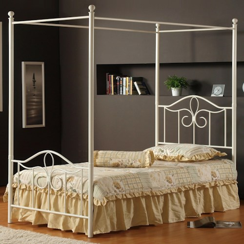 Morris Home Furnishings Metal Beds Full Westfield Canopy Bed