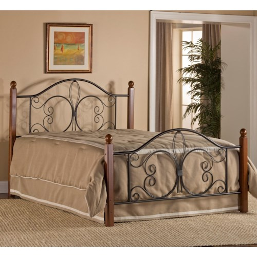 Morris Home Furnishings Metal Beds King Milwaukee Wood Post Bed with Frame