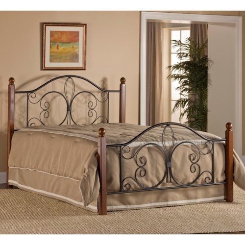 Morris Home Furnishings Metal Beds Twin Milwaukee Wood Post Bed with Bed Frame
