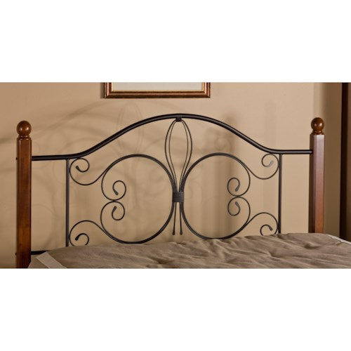 Morris Home Furnishings Metal Beds King Milwaukee Wood Post Headboard with Frame