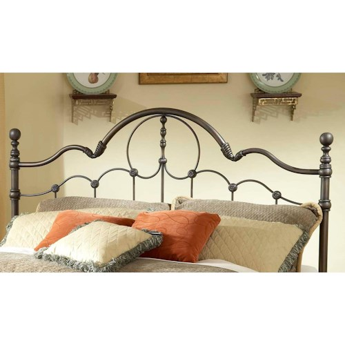 Morris Home Furnishings Metal Beds King Venetian Headboard- Rails not included