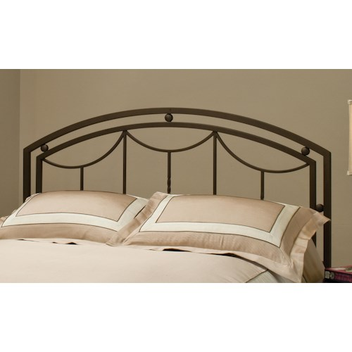 Morris Home Furnishings Metal Beds Arlington Metal King Headboard with Rails