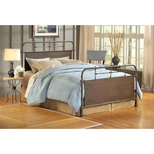 Hillsdale Metal Beds Queen Kensington Bed w/ Rails