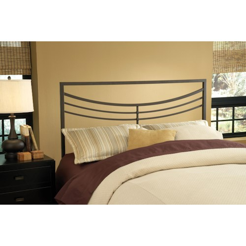 Hillsdale Metal Beds Kingston Brown Metal King Headboard with Rails