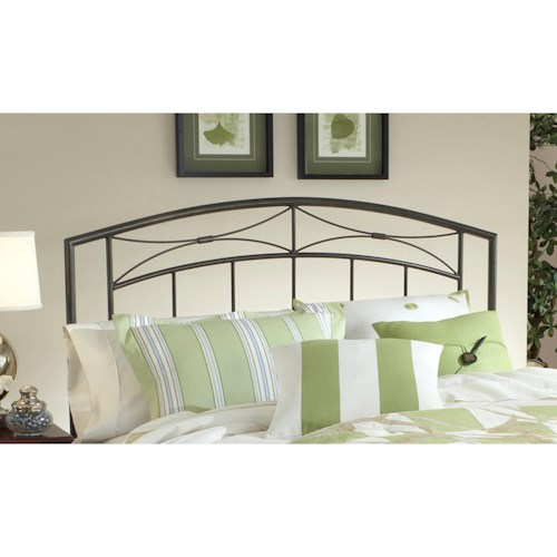 Hillsdale Metal Beds King Morris Headboard with Rails