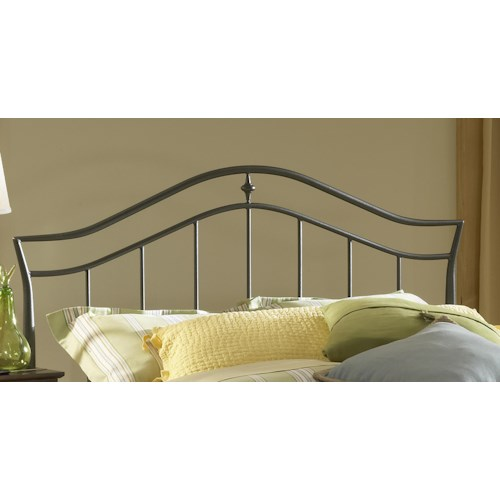 Morris Home Furnishings Metal Beds Imperial Black Metal Full/Queen Headboard with Rails