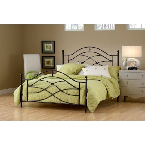Morris Home Furnishings Metal Beds Cole King Bed with Arched Headboard and Footboard